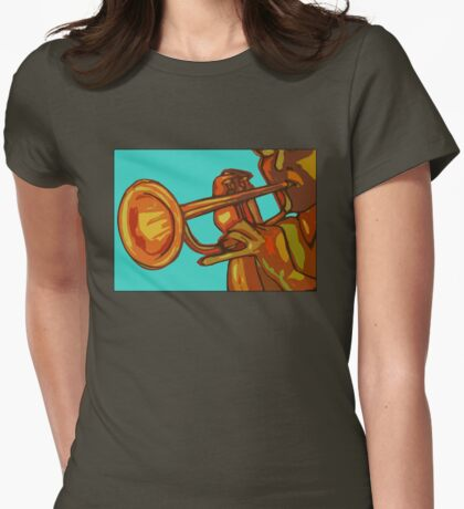 Trumpet Player Womens Fitted T-Shirt