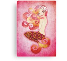 Coraleen, Mermaid in Pink Canvas Print