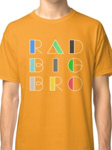 Radical Big Bro Brother Retro Vintage 1980 Something 1980's Funny Graphic Tee Shirts Classic T-Shirt