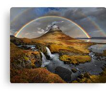 Rainbow over Kirkjufell Canvas Print