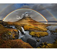 Rainbow over Kirkjufell Photographic Print