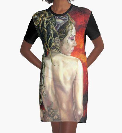 The Steampunk Arsonist Graphic T-Shirt Dress