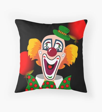 Clown Throw Pillow