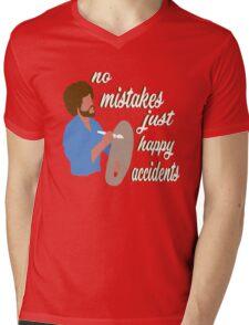 Bob Ross Happy Accidents Mens V-Neck T-Shirt