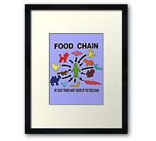 FOOD CHAIN Framed Print