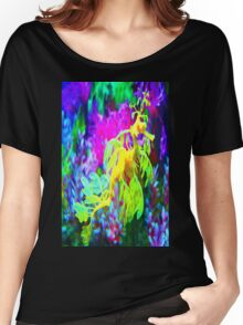 seahorse coral reef animal abstract Women's Relaxed Fit T-Shirt