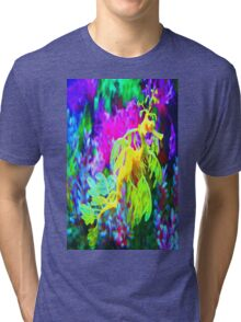 seahorse coral reef animal abstract Tri-blend T-Shirt