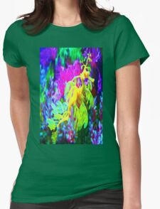 seahorse coral reef animal abstract Womens Fitted T-Shirt