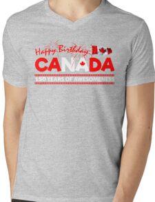 Happy Birthday Canada 150 Years Of Awesomeness Mens V-Neck T-Shirt