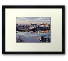 Reflecting on Leith Framed Print