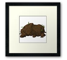 Glitch miscellaneousness earth Framed Print