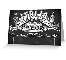 Graphic Element for Italian Background Greeting Card