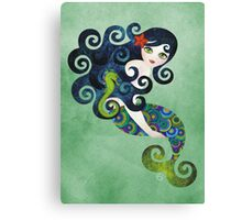 Aquamarine, the Teenage Mermaid Canvas Print