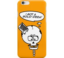 Something solid to think about! iPhone Case/Skin