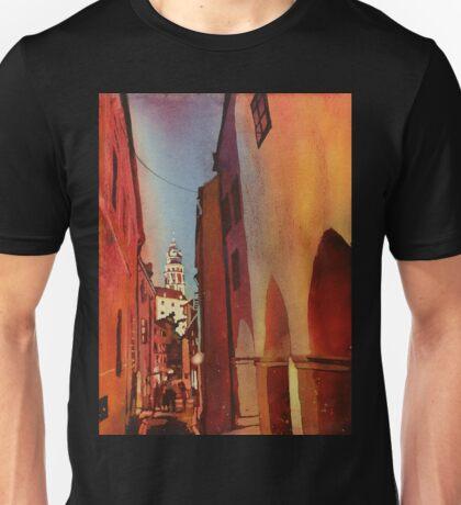 Castle in Cesky Krumlov- watercolor painting Unisex T-Shirt
