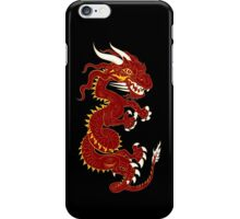 Red Dragon with Golden Style iPhone Case/Skin