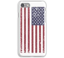 Vintage Look Stars and Stripes American Flag iPhone Case/Skin