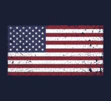 Vintage Look Stars and Stripes American Flag Kids Tee
