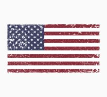 Vintage Look Stars and Stripes American Flag Kids Clothes