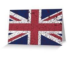 Vintage look Union Jack Flag of Great Britain Greeting Card