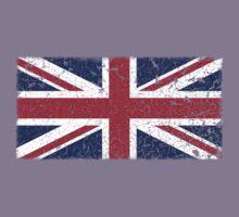 Vintage look Union Jack Flag of Great Britain Kids Tee