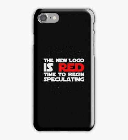 The New Logo is Red (White) iPhone Case/Skin