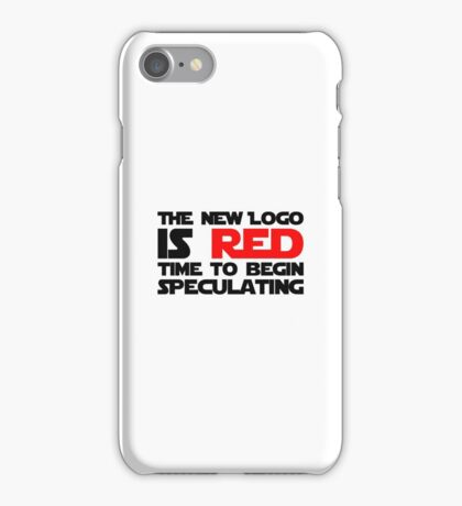 The New Logo is Red (Black) iPhone Case/Skin
