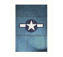 Vintage Look USAAF Roundel Graphic Art Print