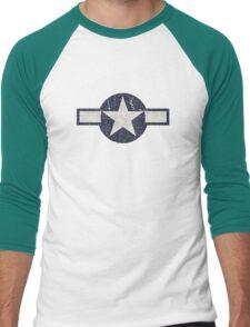 Vintage Look USAAF Roundel Graphic Men's Baseball ¾ T-Shirt