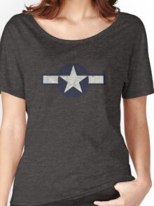 Vintage Look USAAF Roundel Graphic Women's Relaxed Fit T-Shirt