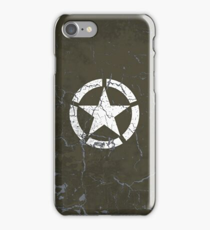 Vintage Look US Army White Star Emblem iPhone Case/Skin