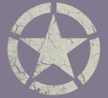 Vintage Look US Army White Star Emblem Kids Tee
