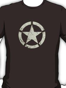 Vintage Look US Army White Star Emblem T-Shirt