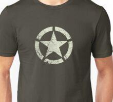 Vintage Look US Army White Star Emblem Unisex T-Shirt