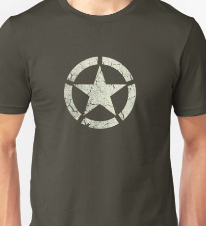 Vintage Look US Army White Star Emblem Unisex T-Shirt