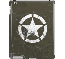 Vintage Look US Army White Star Emblem iPad Case/Skin
