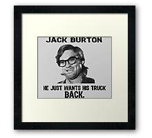JACK BURTON Framed Print