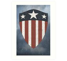 Vintage Look USA WW2 Captain America Style Shield Art Print