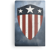 Vintage Look USA WW2 Captain America Style Shield Metal Print