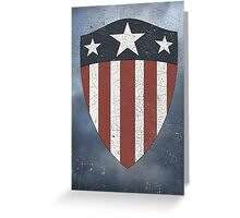 Vintage Look USA WW2 Captain America Style Shield Greeting Card