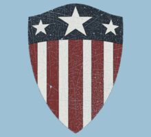 Vintage Look USA WW2 Captain America Style Shield Kids Clothes
