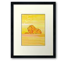 Leo - Strength Framed Print