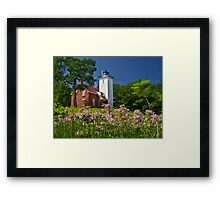Flowers at the Light Framed Print