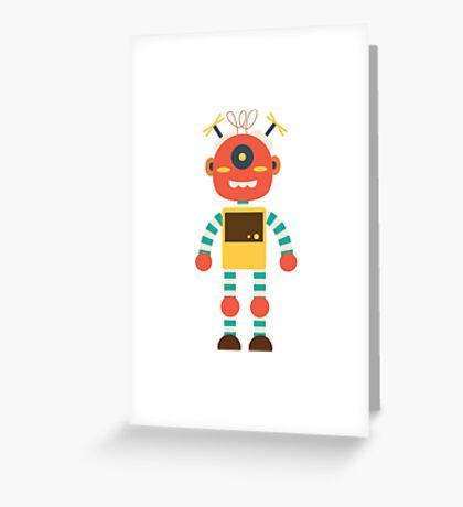 MY ROBOT FRIEND Greeting Card