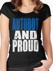 Autobot AND PROUD Women's Fitted Scoop T-Shirt