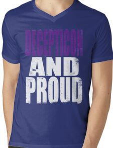 Decepticon AND PROUD Mens V-Neck T-Shirt