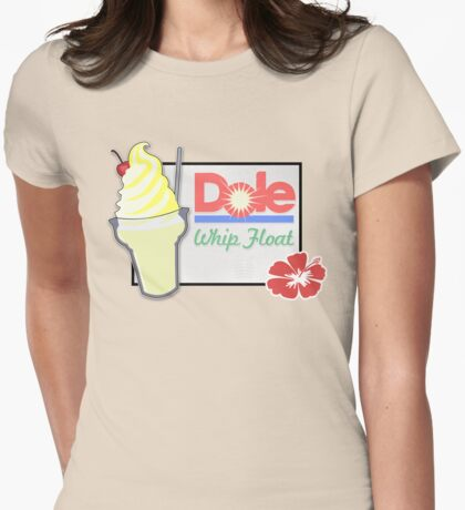 Dole Whip Float Womens Fitted T-Shirt