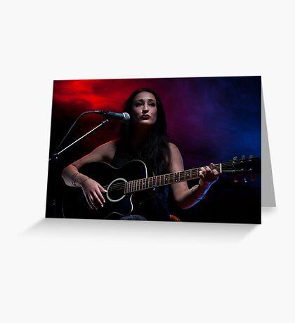Guitar Lady Greeting Card