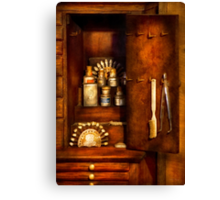 Dentist - The Dental Cabinet Canvas Print