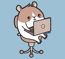 Laptop Hammie - hamster with laptop computer  Kids Clothes